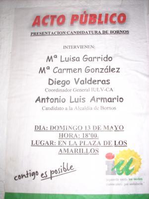 Presentación de la Candidatura de Izquierda Unida. El acto contará con la presencia de Diego Valderas.