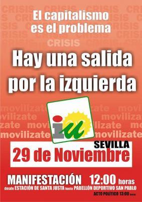 Manifestación. 29 de noviembre en Sevilla.
